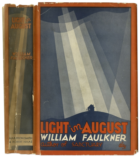 William Faulkner's ''Light in August'' First Edition, First Printing in Scarce First Printing Dust Jacket