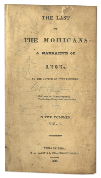James Fenimore Cooper's ''Last of the Mohicans'' First Edition