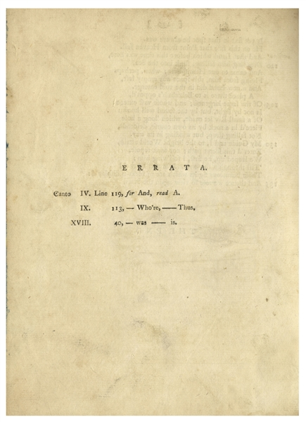 First English Translation of ''Dante's Inferno'' From 1782