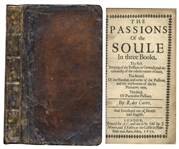 First English Edition of Rene Descartes The Passions of the Soule -- From 1650