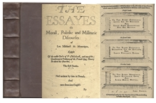 Michel de Montaigne First English Edition of His Influential Essayes -- From 1603