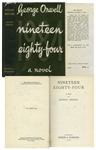 George Orwell First Edition of His Classic Nineteen Eighty-Four -- With Original Dust Jacket Showing 10s. Price