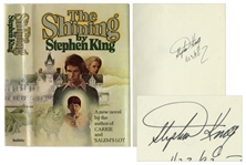 Stephen King Signed First Edition of His Masterpiece, The Shining -- With First Edition Dust Jacket