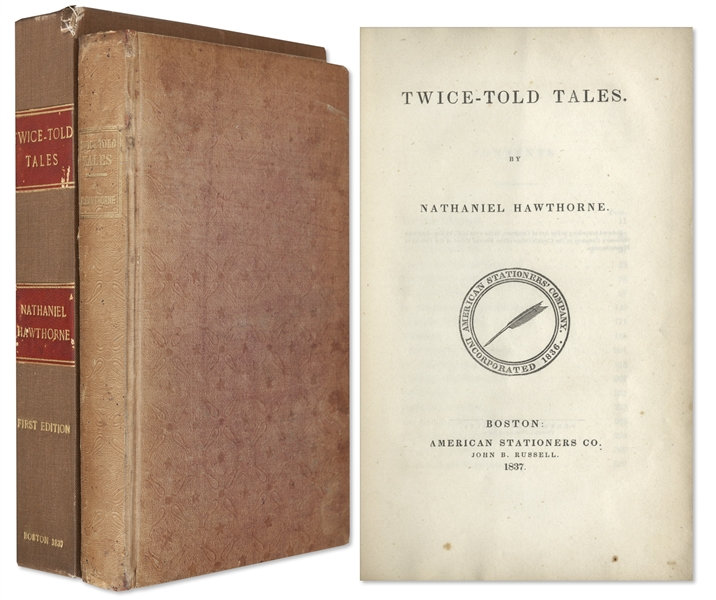 First Edition of Nathaniel Hawthorne's ''Twice-Told Tales'' -- One of Only 1,000 Printed, in Scarce Original Binding