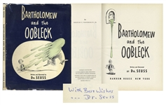 Dr. Seuss Signed First Edition, First Printing of Bartholomew and the Oobleck