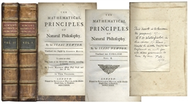 Rare First Edition of Sir Isaac Newtons The Mathematical Principles of Natural Philosophy -- Two Volume Set From 1729