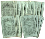 Charles Dickens First Printing of David Copperfield in Serialized Form -- Rare in Original Green Wrappers