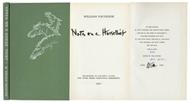 William Faulkner Signed First Edition of Notes on a Horse Thief