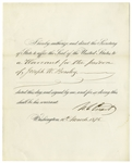 Ulysses S. Grant Document Signed as President -- Grant Pardons a Man Who Attempted to Defraud the Government