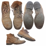 John Bradleys Personally Owned U.S. Marines-Issued Combat Boots -- Used at Iwo Jima -- From John Bradleys Estate