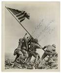 Iwo Jima Flag Raisers 8 x 10 Signed Photo -- Signed by John Bradley, Ira Hayes & Rene Gagnon -- From John Bradleys Estate