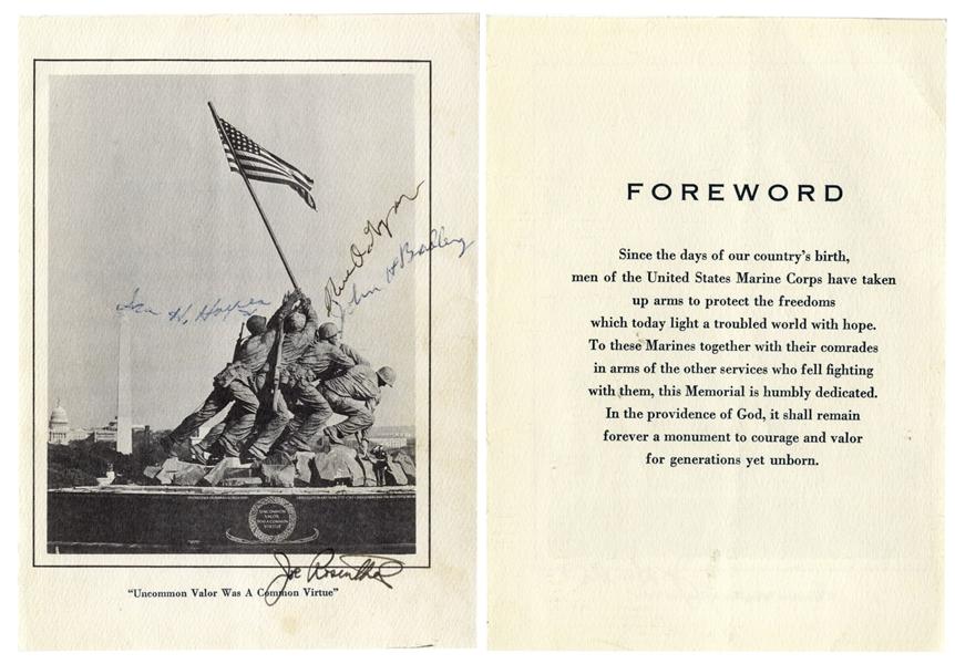 Iwo Jima Memorabilia Joe Rosenthal & the 3 Iwo Jima Flag Raisers Signed Photo of the U.S. Marine Corps Memorial