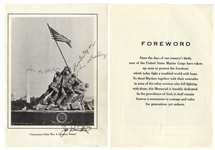 Joe Rosenthal & the 3 Iwo Jima Flag Raisers Signed Photo of the U.S. Marine Corps Memorial