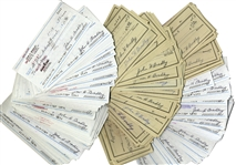 Iwo Jima Flag Raiser, John Bradley Lot of 339 Checks Signed -- Spanning His Post WWII Life From 1952-1993 -- From John Bradleys Estate