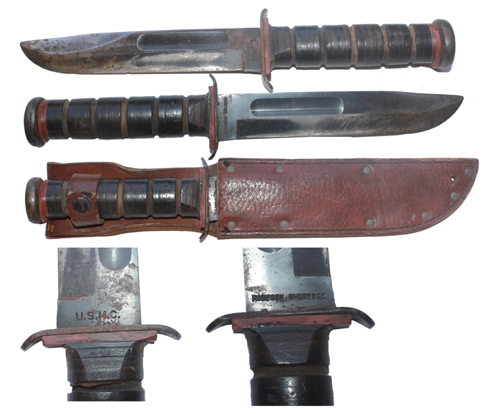 Iwo Jima Memorabilia John Bradley's Personally Owned U.S. Marines-Issued Combat Knife -- Likely Used at Iwo Jima -- From John Bradley's Estate