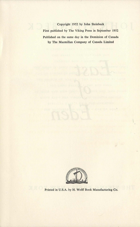 east of eden by john steinbeck essay