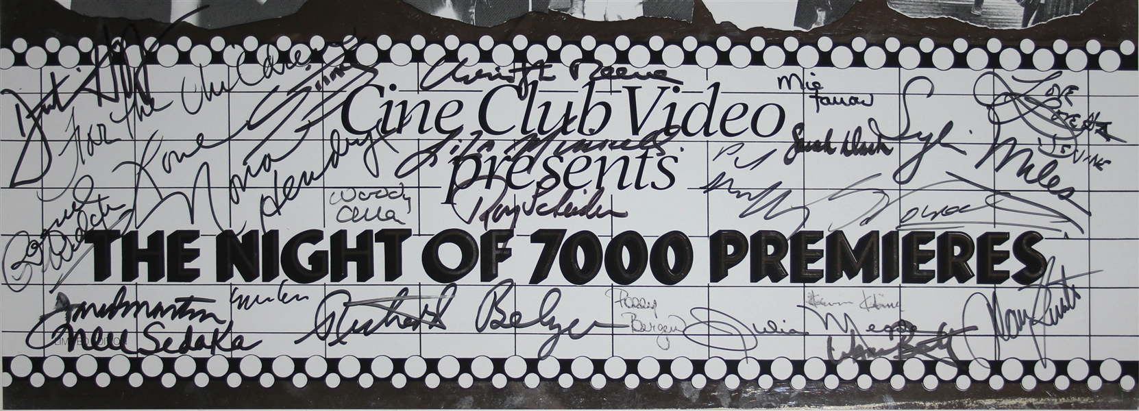 Star Studded Signed Movie Premiere Poster -- Signed by Christopher Reeve, Warren Beatty, Sting, Yoko Ono, Woody Allen, Mia Farrow, Liza Minelli, Dustin Hoffman & More