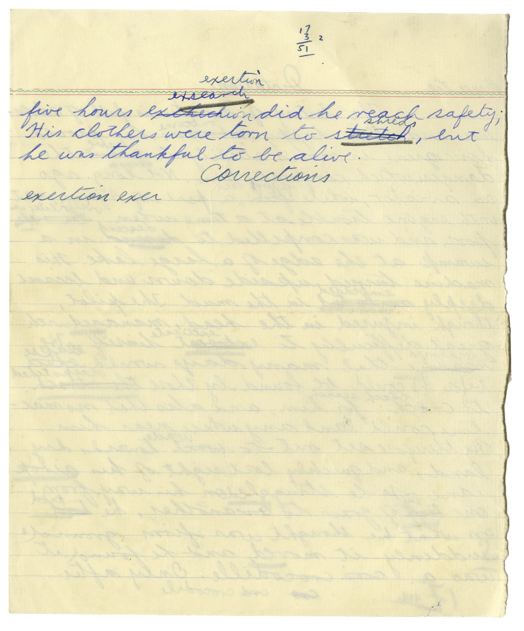 brown university handwritten essay