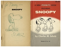 Charles Schulz Hand-Drawn Sketch of Snoopy in A New Peanuts Book Featuring Snoopy