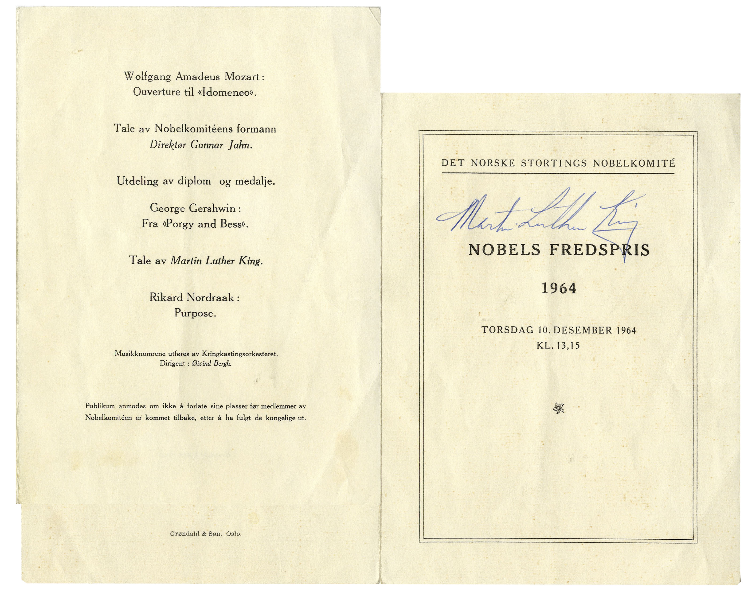 Lot Detail Martin Luther King Jr Signed Copy Of The 1964 Nobel
