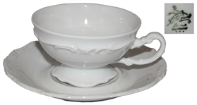 Ronald & Nancy Reagan Personally Owned & Used Cup & Saucer -- Acquired by the Reagans Before His Presidency