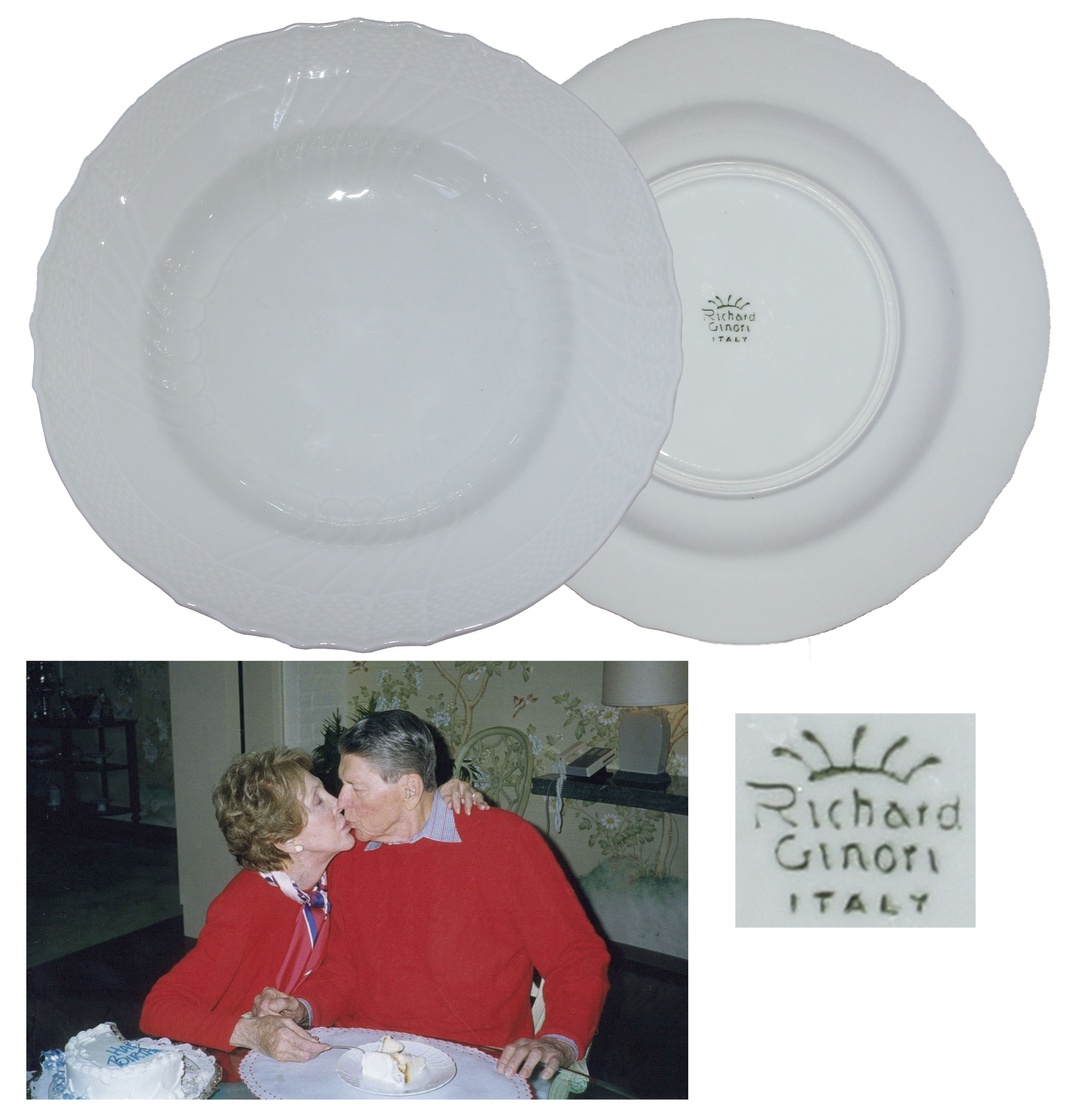 Ronald Reagan Memorabilia Auction Ronald & Nancy Reagan Personally Owned & Used Soup Bowl