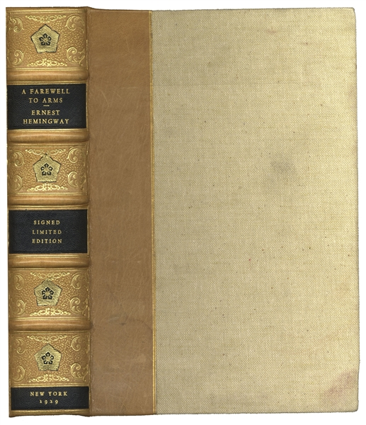 Ernest Hemingway First Limited Edition of ''A Farewell to Arms'' -- Signed by Hemingway