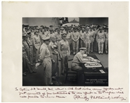 Admiral Chester Nimitz 13 x 11 Signed Photo of the Japanese Surrender -- Near Fine