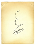 Alfred Hitchcock Signed Sketch of His Famous Profile -- Measures 11 x 14