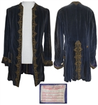 Gorgeous Blue Velvet Coat Worn by Anthony Quinn in Against All Flags