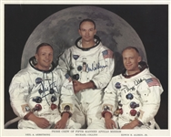 Apollo 11 Crew-Signed 10 x 8 Photo -- Uninscribed & Near Fine -- With Zarelli COA