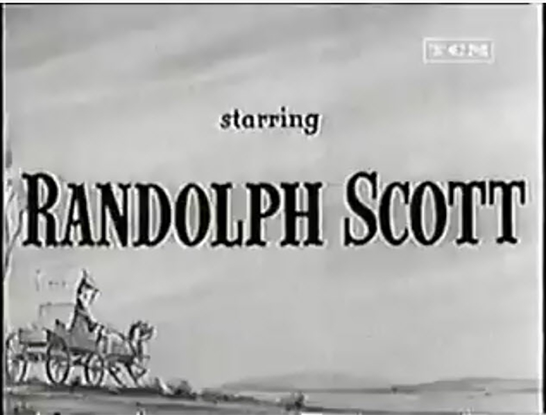 Title Art From the 1946 Western ''Badman's Territory'' Starring Randolph Scott -- Hand Drawn & Painted