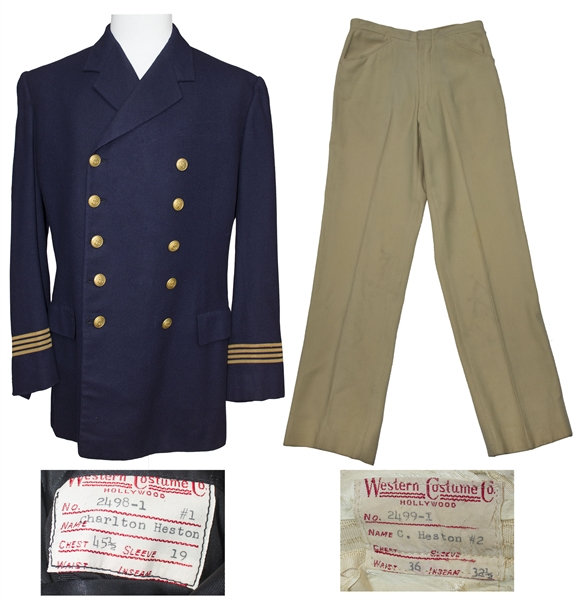 Charlton Heston Sea Captain's Costume From ''The Hawaiians''