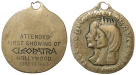 Cleopatra Medallion Given at the Hollywood Premiere in June 1963 -- Given to Cleopatra Cinematographer Leon Shamroy