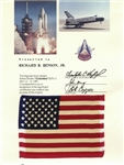 Space-Flown U.S. Flag From the Columbia STS-1 Mission