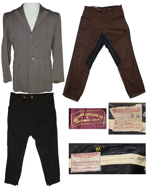 Dean Martin 3-Part Costume From ''5 Card Stud'' -- Rare Costume Worn by Martin