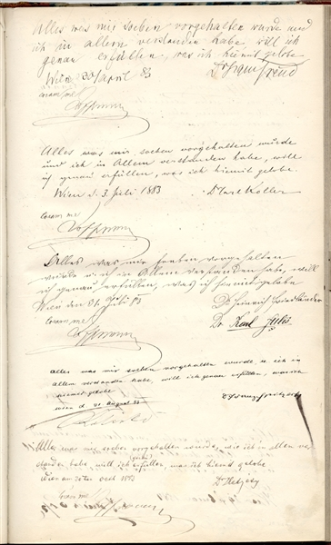 Sigmund Freud Signed Physician's Oath -- …I do hereby swear to fulfil precisely…