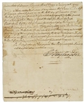 George Washington Document Signed Regarding His Military Mentor, Jacob Vanbraham, Who Fought for the British During the American Revolution