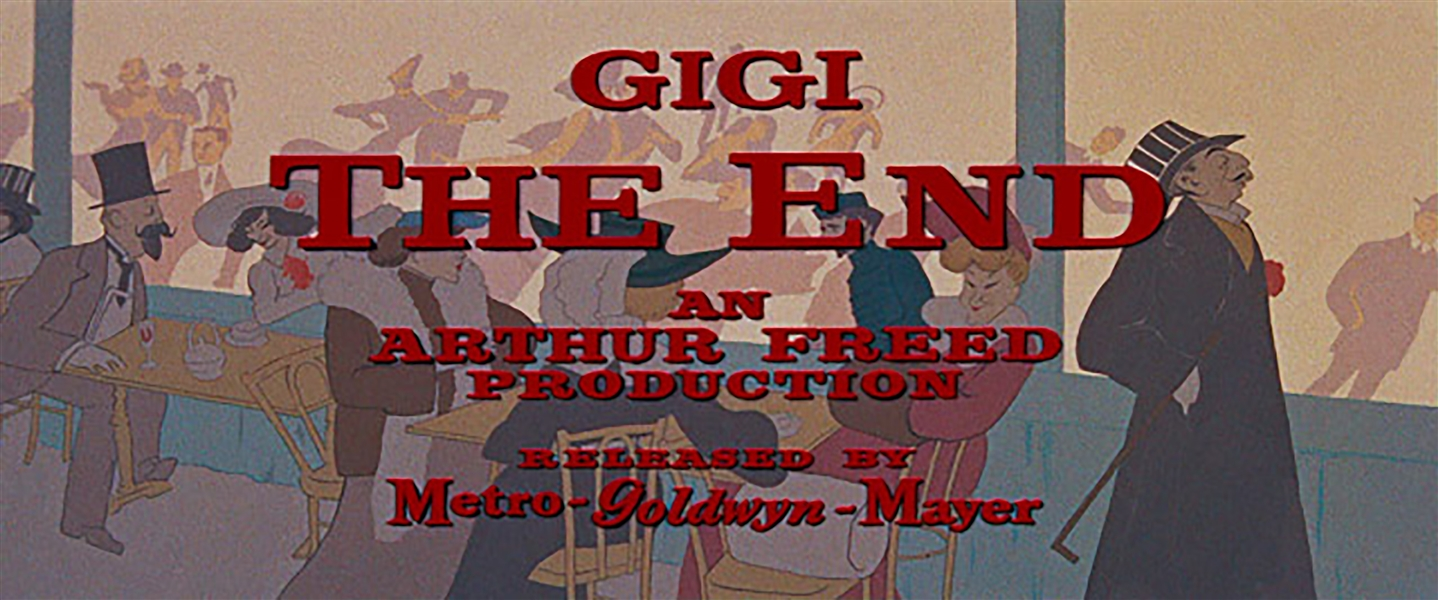 Title Art From the Beloved 1958 Film ''Gigi'' -- Hand Painted Artwork Used in Actual Title Credit & End Credit