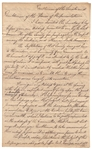 "John Hancock Letter Signed Regarding Native-Americans -- ""…The People…are obliged to Suffer toil, hunger, and all the hardships which are incident to the Settlement of a new country…"""