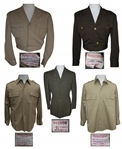 Hollywood Military Costumes Including Outfits Worn by Laurence Olivier, Robert Mitchum & Robert Duvall -- Many From When These Actors Portrayed President Eisenhower Onscreen