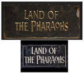 Title Art From the Cult Classic Land of the Pharaohs
