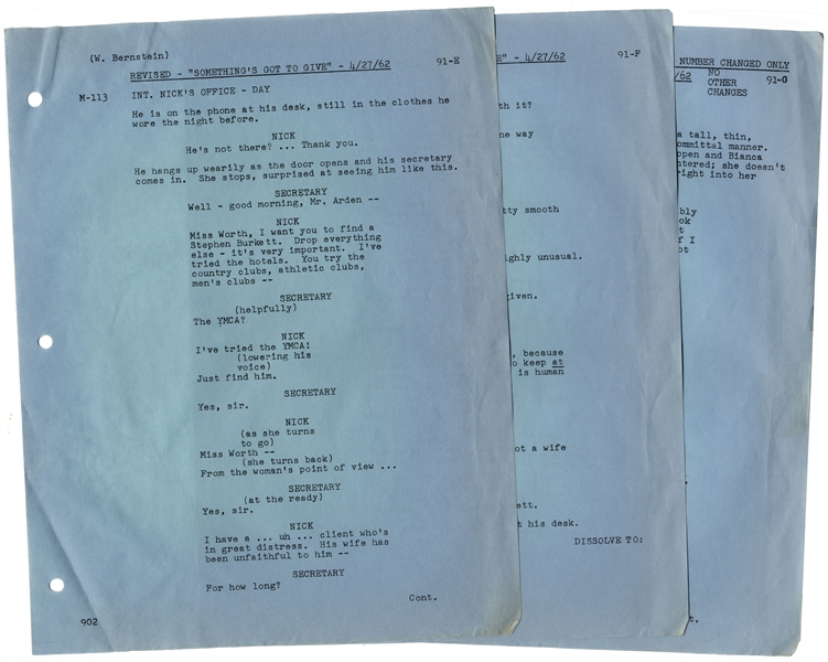 Marilyn Monroe's Very Own Hand-Annotated Script From Her Last Movie, ''Something's Got to Give'' -- Marilyn Writes Notes to Herself, ''...almost a whisper / I just want to tell you...''