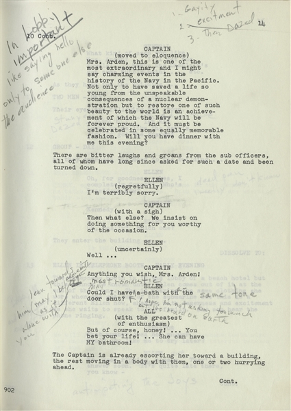 Casablanca script Marilyn Monroe Heavily Hand-Annotated Script for Her Last Role, ''Something's Got to Give'' -- Marilyn Makes Copious Notes to Herself About Her Character, ''easy/very intimate/very real''
