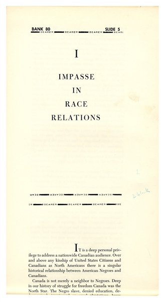 Galley Proofs for Martin Luther King Jr.'s Last Book, ''The Trumpet of Conscience''