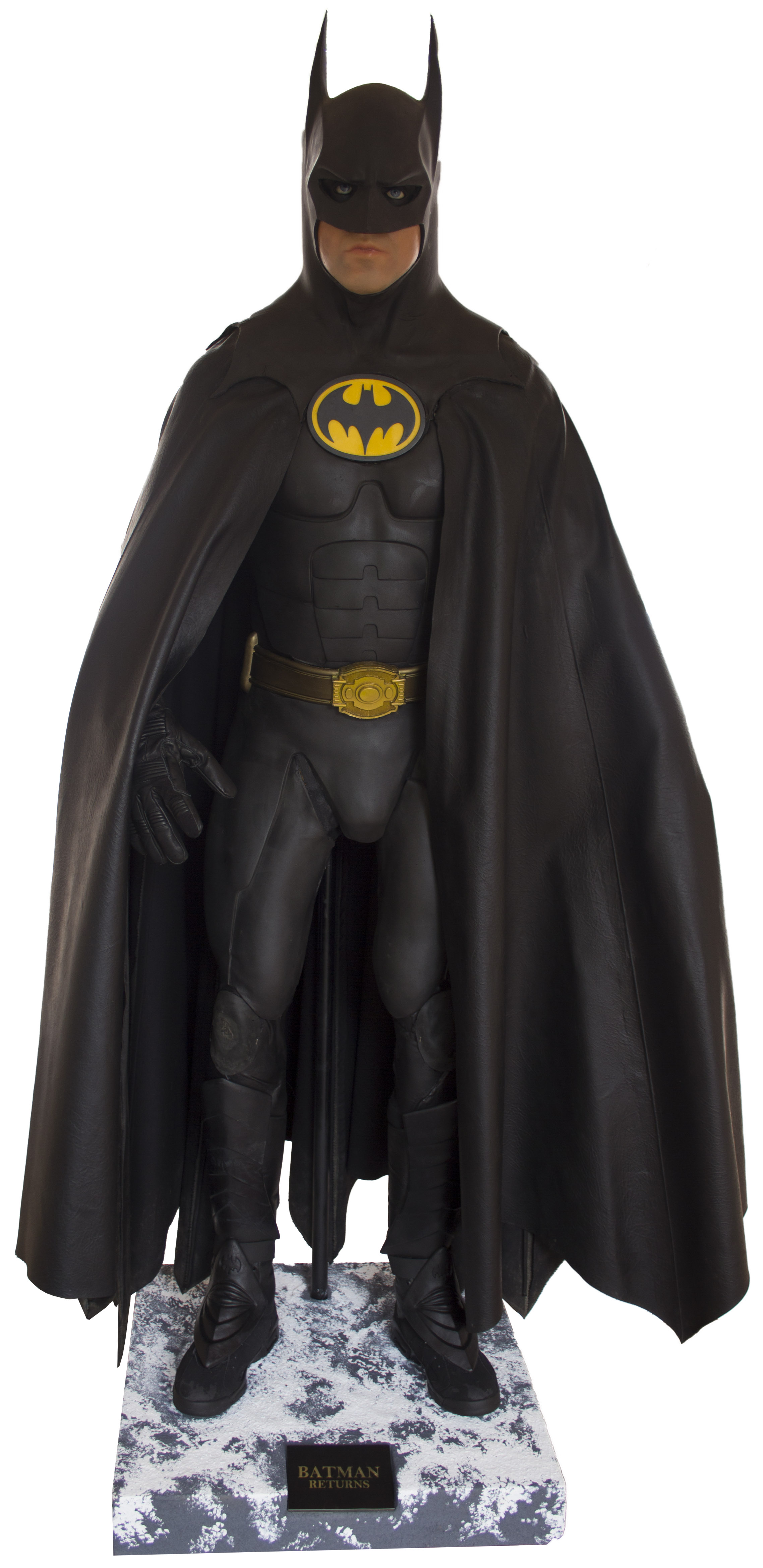The Batsuit From Batman Returns Starring Michael Keaton -- Measures Over 6u0027 Tall on ...  sc 1 st  Nate D Sanders & Lot Detail - The Batsuit From