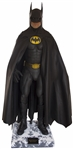 The Batsuit Worn by Michael Keaton in Batman Returns From 1992 -- Measures Over 6 Tall on Custom Display
