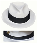 Michael Jackson Personally Owned Smooth Criminal White Fedora -- From His 1992 Dangerous Tour