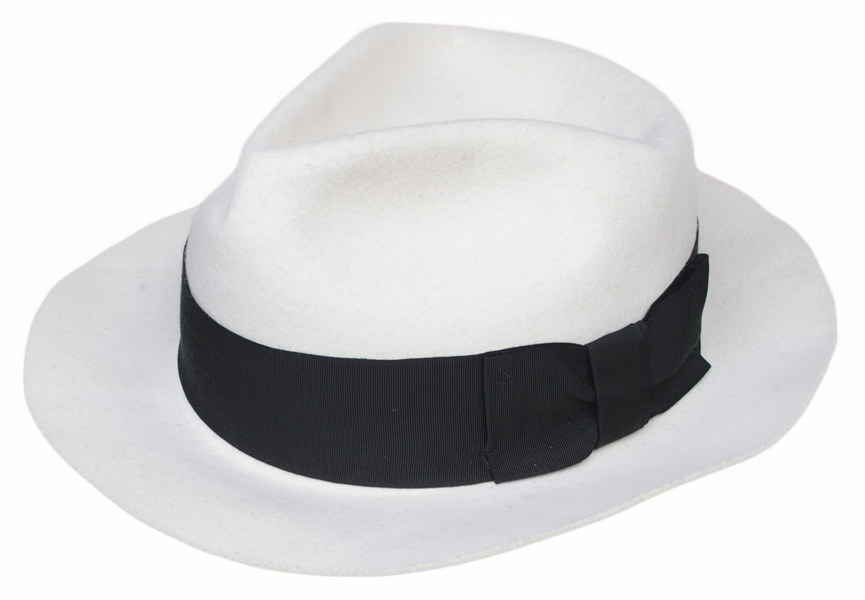 Michael Jackson Personally Owned ''Smooth Criminal'' White Fedora -- From His 1992 ''Dangerous'' Tour