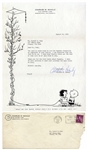 Charles Schulz Letter Signed From 1961 to Little Orphan Annie Cartoonist Harold Gray -- Schulz Is Flattered That Gray Asks Permission to Use His Peanuts Characters